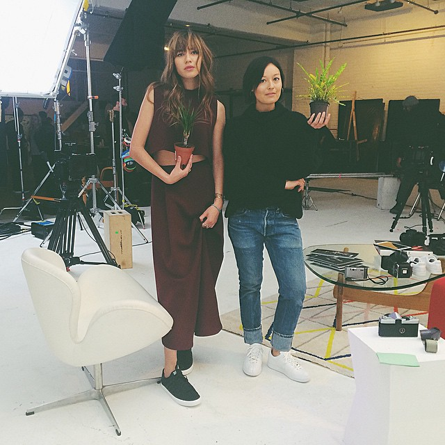 Interview time with this lovely chica in the studioooo: @rachael.wang #secretproject