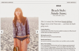 """TORY BURCH """"The Tory Blog"""" FEATURE:"""
