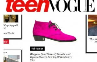 "TEEN VOGUE: ""Natalie + Dylana Suarez x Modern Vice"" Shoe Collaboration:"
