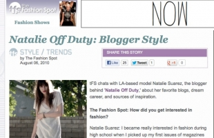 The Fashion Spot Interview