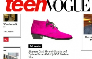 "TEEN VOGUE: ""Natalie + Dylana Suarez x Modern Vice"" Shoe Collaboration:"