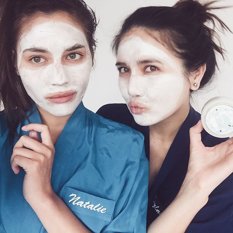 Getting our weekend face on glossier suarezsisters dylanasuareznbspnbspnbspnbsp