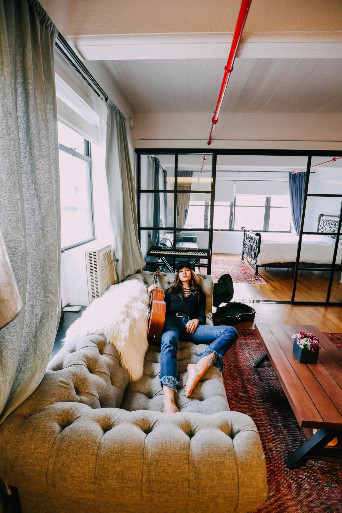 Most comfortable sofa ever - Joybird Couch Natalie Suarez Dumbo Loft Off Duty