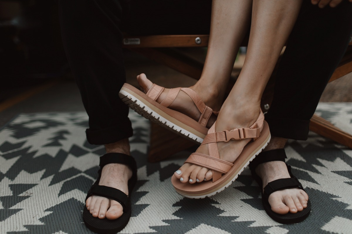 01ea1756280ae on him and her  Teva sandals